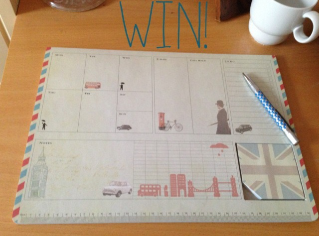 Win! Organise your week with this handy desk planner…