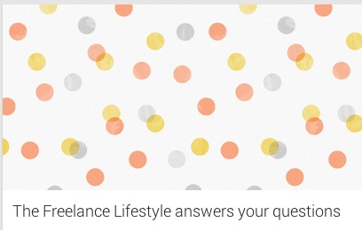 The Freelance Lifestyle answers YOUR questions this Thursday at 7.30pm!
