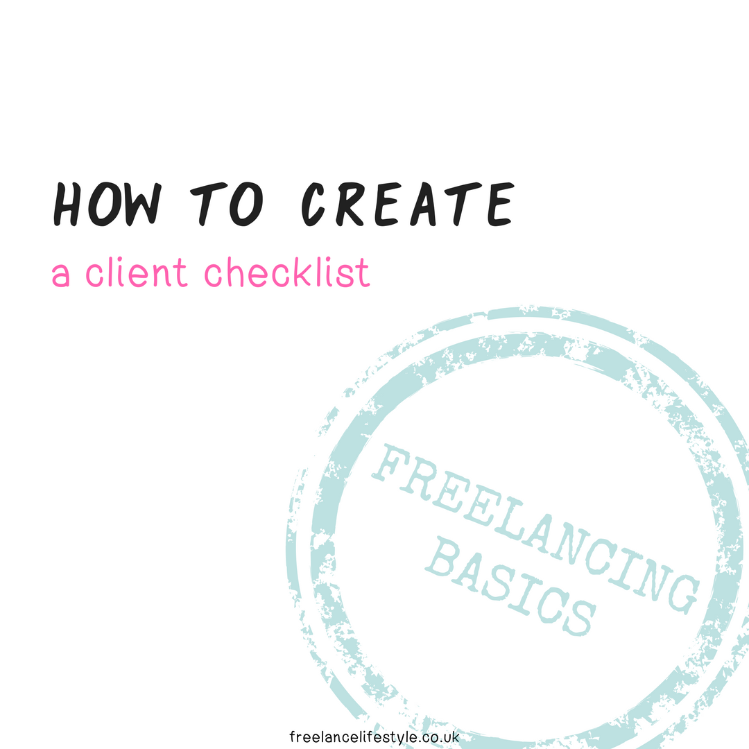 How to create a client checklist