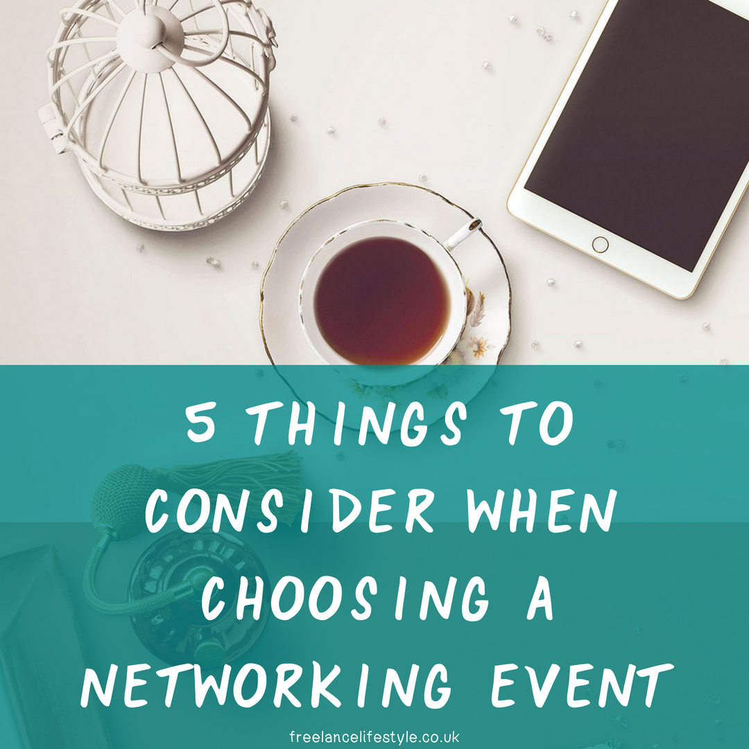 Five things to consider when choosing a networking event